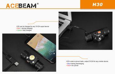 AceBeam H30 Rot/UV - 6500K mit XH-P70.2 CW LED 4000 Lumen – Bild 7
