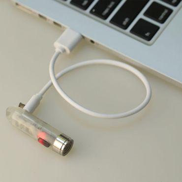 selected-lights Rovyvon Aurora A5 nachleuchtend UV weiss Mini USB aufladbare Schlüsselbundlampe – Bild 3