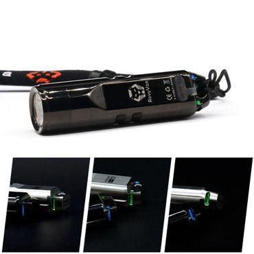 selected-lights Rovyvon Aurora A4 Nichia LED Mini USB Titan aufladbare Schlüsselbundlampe – Bild 5