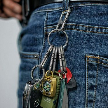 CH6K Mini Titanium Carabiner and Keyring Kit mit 6 Stk und CH1 Ring – Bild 4