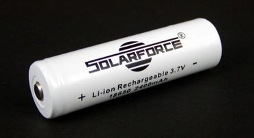 Solarforce Li-Ionen Akku 3,7 Volt - 18650 PRO 2400mAh PCB