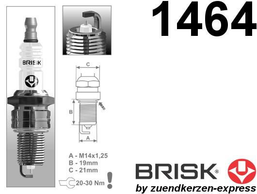 BRISK Silver LR15YS-9 1464 Zündkerzen Benzin LPG GPL CNG Autogas, 4 Stück