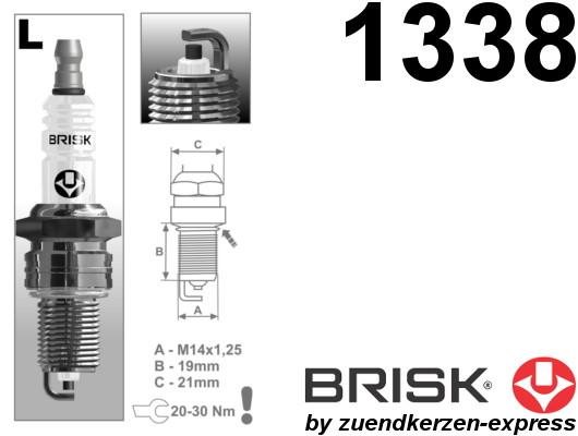 BRISK Super L17YC 1338 Spark plugs, 6 pieces