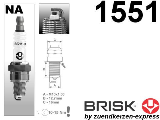 BRISK Super NAR14YC 1551 Zündkerzen, 1 Stück