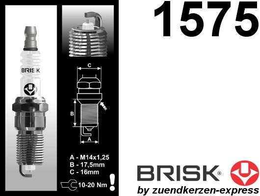 BRISK Silver GR15YS 1575 Spark plugs petrol fuel LPG CNG Autogas, 4 pieces