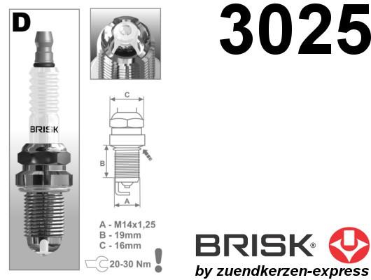 BRISK Premium Racing DOR14LGS 3025 Zündkerzen, 2 Stück