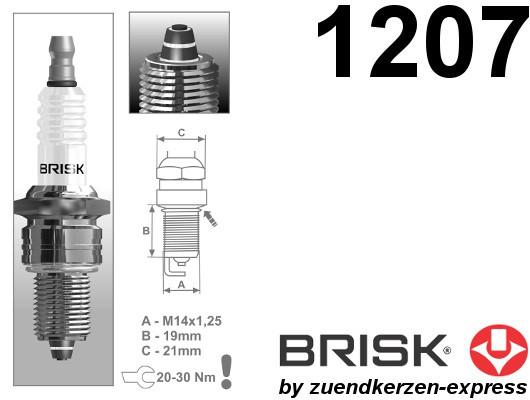 BRISK Premium Racing LR12ZS 1207 Zündkerzen, 4 Stück