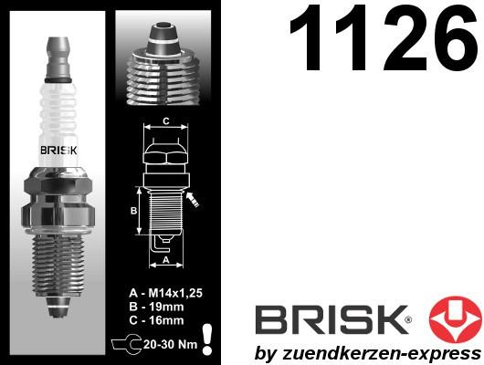 BRISK Premium Racing DR15ZC 1126 Spark plugs, 4 pieces