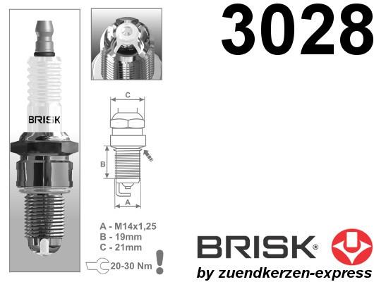 BRISK Premium Racing LOR14LGS 3028 Zündkerzen, 4 Stück
