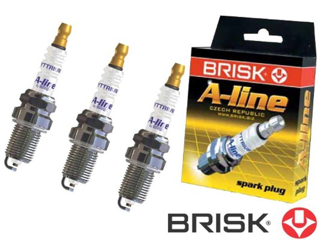 BRISK A-line 23 Yttrium DR17LDCY 1447 Spark plugs, 3 pieces