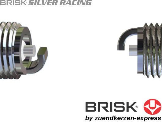 BRISK Silver Racing AR12YS 1518 Zündkerzen Benzin, 4 Stück