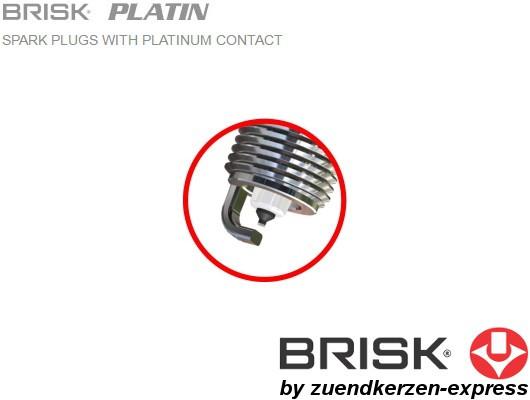 BRISK Platin DR17YP 1402 Spark plugs, 4 pieces