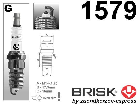BRISK Platin GR15YP-1 1579 Spark plugs, 4 pieces