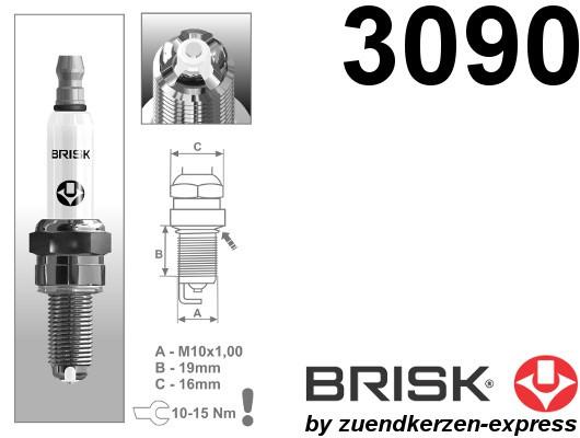BRISK Premium Racing AOR14LGS 3090 Spark plugs, 2 pieces