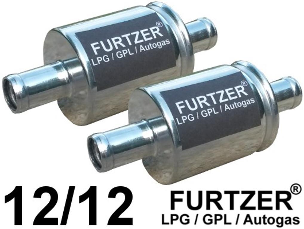 Furtzer® LPG GPL Autogas filter 12 mm / 12 mm, gas filter, 2 pieces