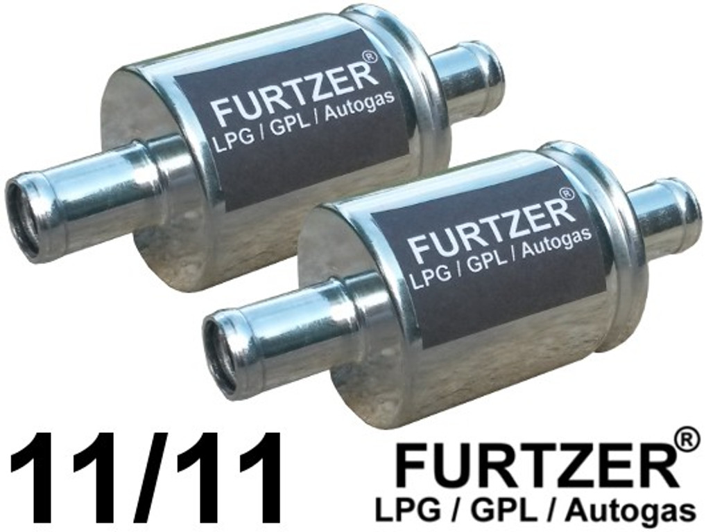 LPG CNG GPL Autogas Filter 11 mm / 11 mm, Gasfilter, 2 Stück by Furtzer®