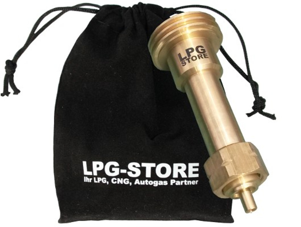 LPG GPL Autogas Tankadapter ACME Gasflaschen Propangas lang Adapter mit Stoffbeutel by LPG-Store