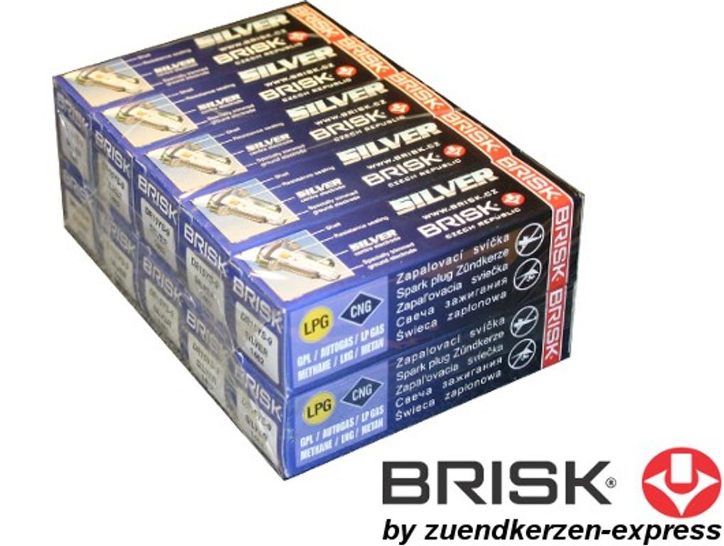 Spezial Angebot! BRISK Silver DR17YS-9 1463 Zündkerzen Benzin LPG GPL CNG Autogas, 10 Stück