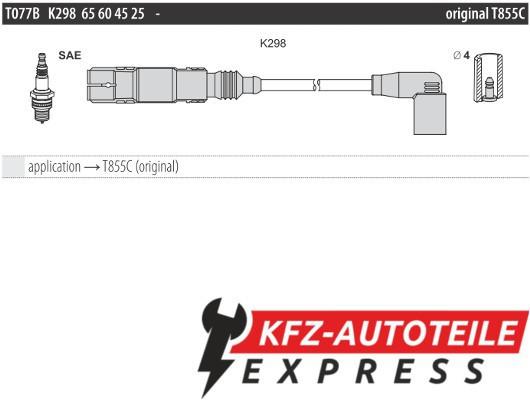 KFZ-Autoteile Express Ignition lead cable set Standard T112B, 1 set, 4 pieces for Chrysler