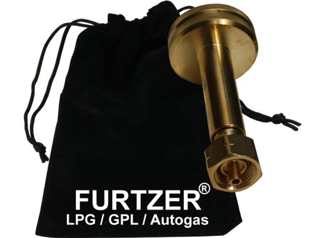 LPG GPL Autogas Tankadapter DISH Gasflaschen Propangas lang Adapter mit Stoffbeutel by Furtzer®