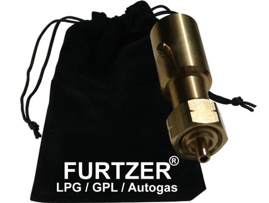 Furtzer® LPG GPL Autogas tank adapter BAJONETT gas bottles propane gas long with fabric bag