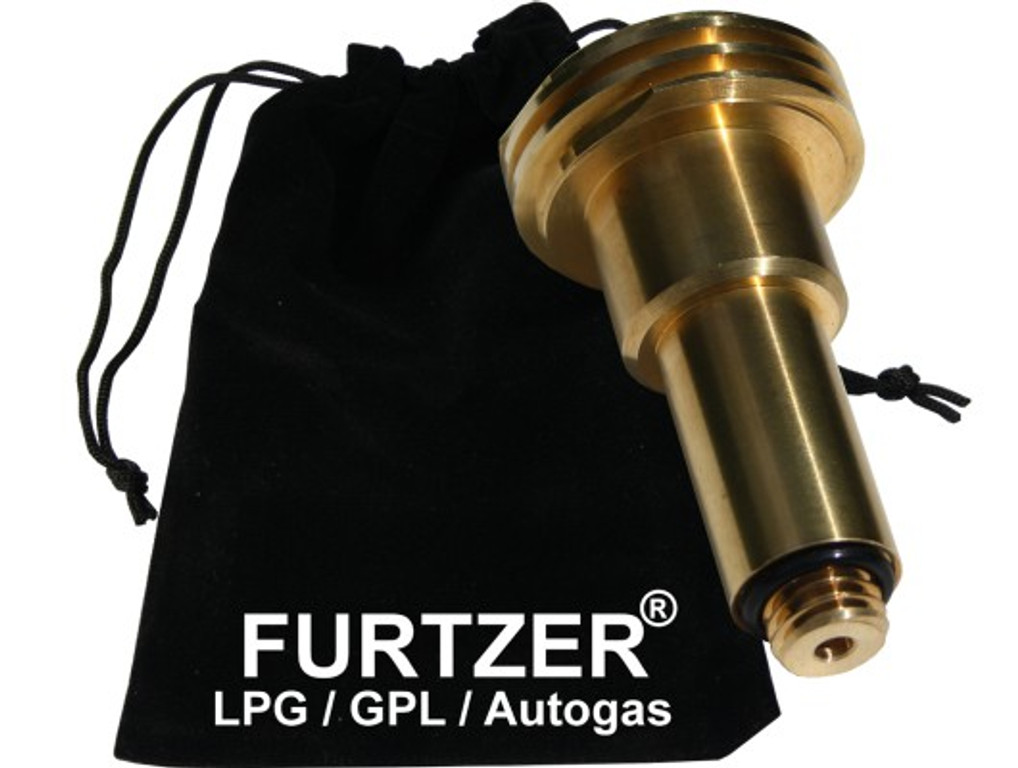 LPG GPL Autogas Tankadapter M14 ACME lang Adapter mit Stoffbeutel by Furtzer®