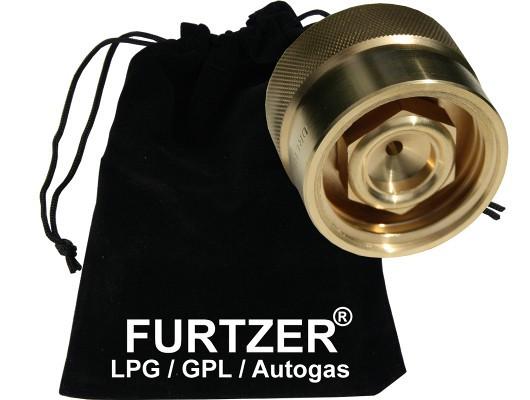 LPG GPL Autogas Adapter ACME auf DISH Adapter mit Stoffbeutel by Furtzer®