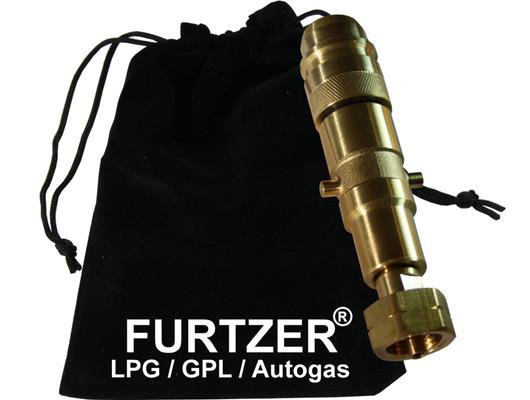 LPG GPL Autogas Tankadapter EURONOOZLE / BAJONETT Gasflaschen Propangas lang Adapter mit Stoffbeutel by Furtzer®