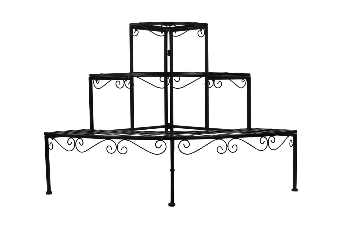 blumentreppe pflanztreppe blumenregal blumenbank pflanzentreppe garten metall ebay. Black Bedroom Furniture Sets. Home Design Ideas