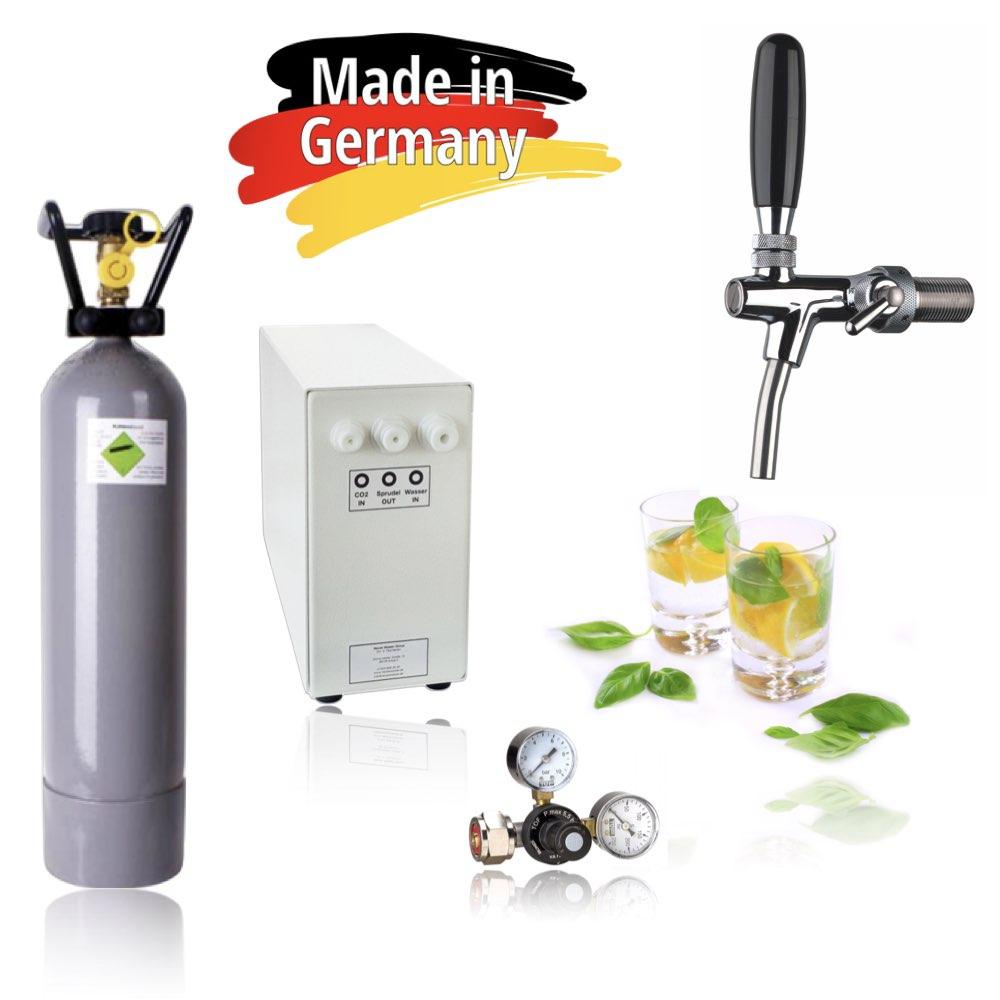 Trinkwassersystem – Trinkwassersprudler Sprudel-Lok Inkl. Zapfhahn mit Kompensator