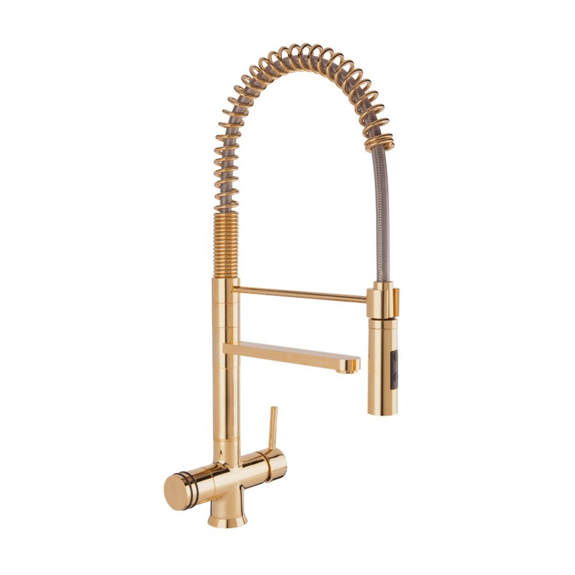 Designer Spiralfeder-Drei-Wege-Wasserhahn LUXURY BRONZATO, Antike Messing