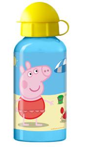 Peppa Wutz Pig Trinkflasche Aluminium 400 ml
