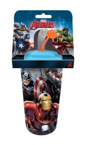 Marvel Avengers 3D Trinkbecher mit Strohhalm