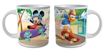 Disney Mickey Mouse Keramik-Tasse 237 ml Motiv Skateboard