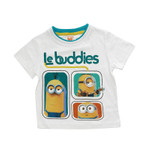 "Minions Kinder T-Shirt "" Le Buddies"" Weiss 001"