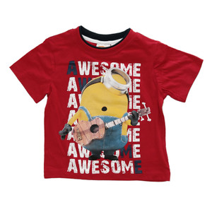 "Minions Kinder T-Shirt ""Awesome"" Rot"