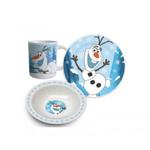 Disney Frozen Eiskönigin Olaf Frühstücks-Set Geschirr 3-tlg. 001