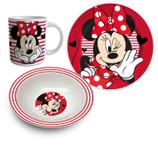 Disney Minnie Mouse Frühstücks-Set Geschirr 3-tlg. 001
