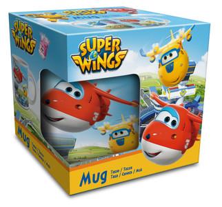Super Wings Keramik Tasse Becher im Geschenkkarton