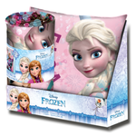 Disney Frozen Eiskönigin Set Kissen & Fleece-Decke  001