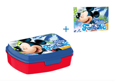Disney Mickey Mouse Brotdose Lunchbox & Waschlappen