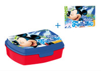 Disney Mickey Mouse Brotdose Lunchbox & Waschlappen 001