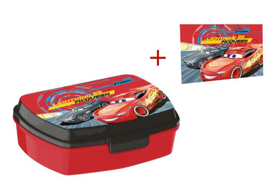 Disney Cars Brotdose Lunchbox & Waschlappen