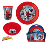 Marvel Spiderman Frühstücksset Kinder Geschirr 3-tlg. 001