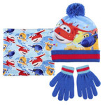 Super Wings Kinder Winter Set 3 tlg. Mütze Bandana Handschuhe  001
