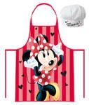 Disney Minnie Mouse Chefkoch Set 2 tlg. Kochmütze & Kochschürze 001