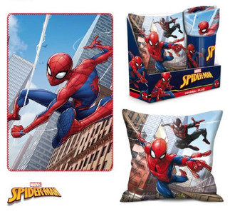 Marvel Spiderman Kissen & Fleece-Decke SET