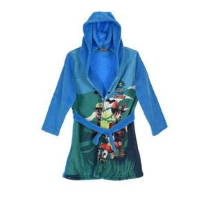 Paw Patrol Kinder-Bademantel Morgenmantel mit Kapuze Blau