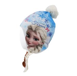 Disney Frozen - Die Eiskönigin Wintermütze Anna & Elsa mit Zöpfen