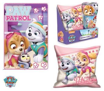 Paw Patrol Skye & Everest Kissen & Fleece-Decke Kuschel-Set